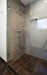 Champagne Glass Subway Tile | Glass Tile Shower, Shower ...