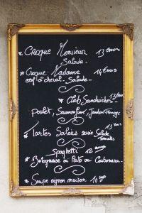 Paris Kitchen Photograph, Chalkboard Menu, French Cafe ...