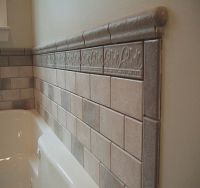 tile around bathtub ideas | Bathroom tiled tub wall full ...