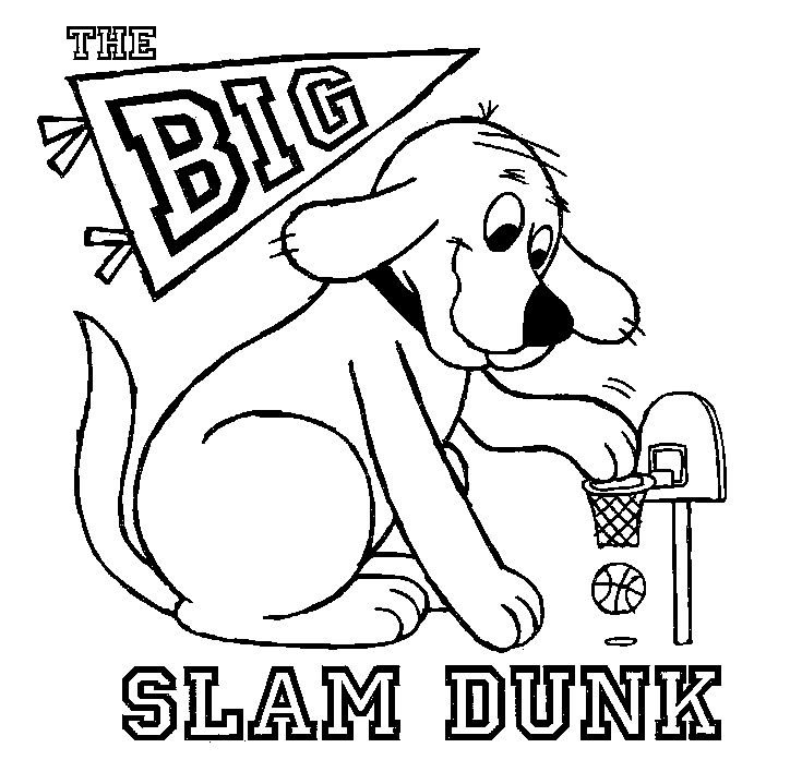 It's easy for Clifford to slam dunk when he's bigger than