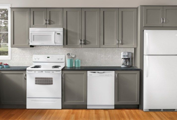 cheap kitchen remodels modern table sets ideas : decorating with white appliances / painted ...