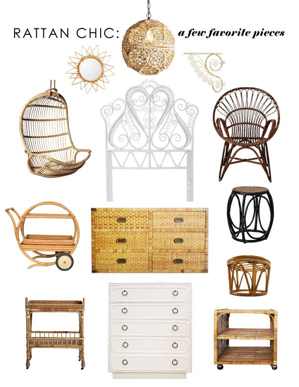 get the look: rattan chic: