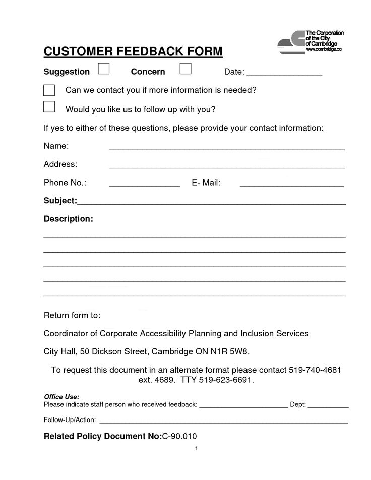 Customer Contact Form  CUSTOMER FEEDBACK FORM PDF download Was our company advertising easy