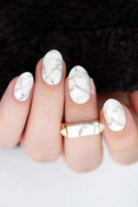 White Marble Nail Art | Lacquerstyle.com | so polished ...