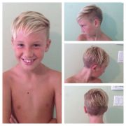boys haircut. child. undercut