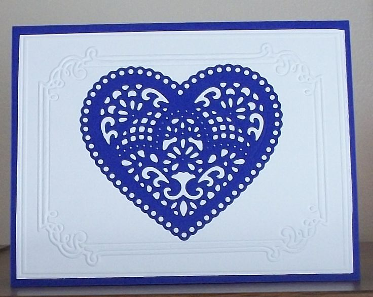 Card I Made Using Spellbinders Shapeabilities Lace Heart