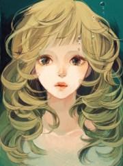 anime art pretty girl. . .realism