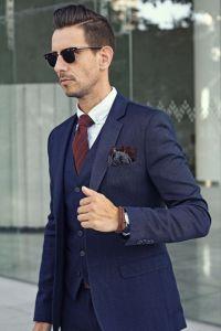 25+ best ideas about Navy Blue Suit on Pinterest | Men's ...