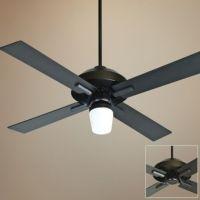 "Craftmade South Beach Outdoor Ceiling Fan - 52"" Flat Black ..."