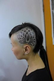 lotus shaved side of head