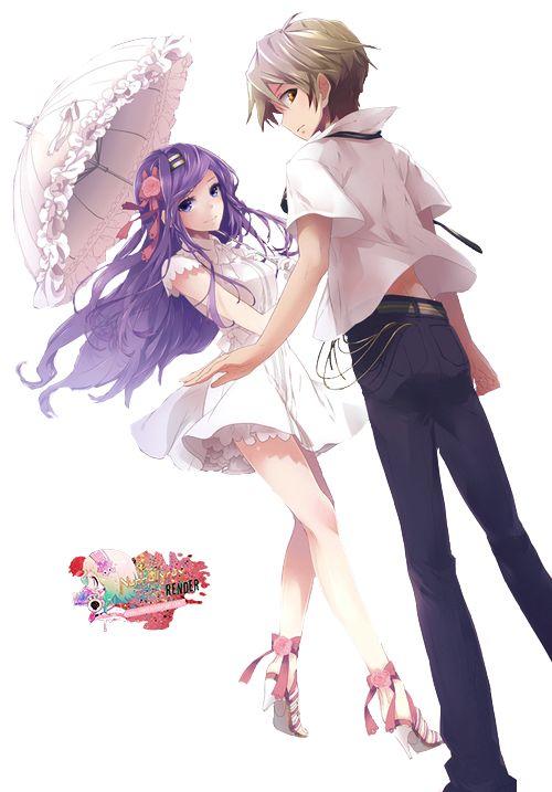 Pretty Falling Angel Wallpaper 1920x1080 Deviantart More Like Anime Couple Render By Arinnea