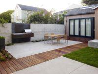 Ideen overdekt terras | Beton en hout | Outdoor living ...