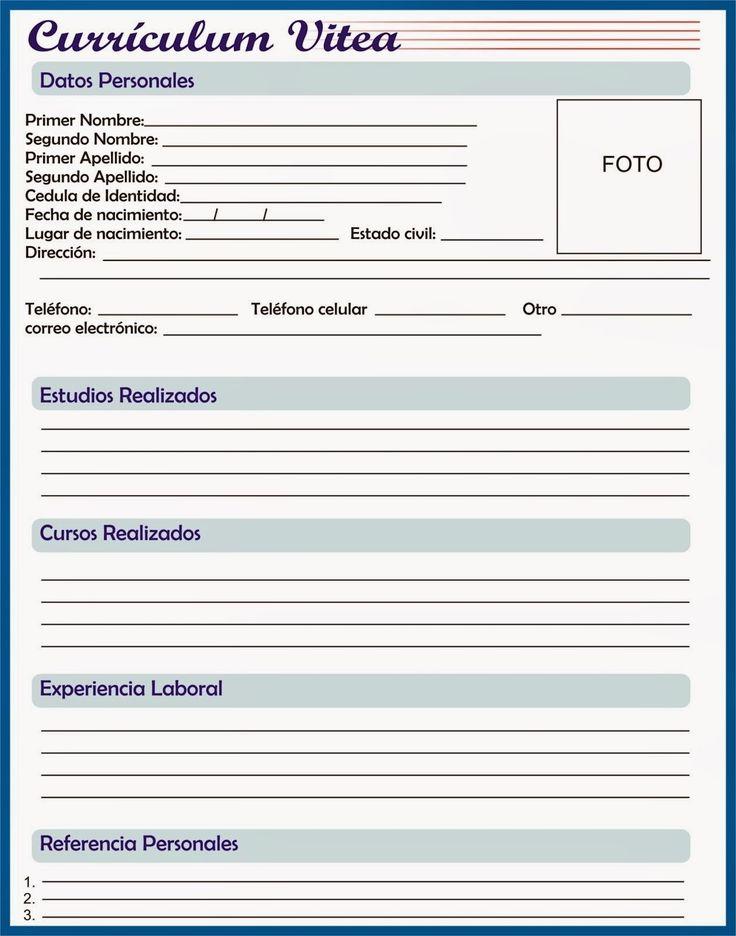 Curriculum Vitae Word Para Preencher Free Resume Samples