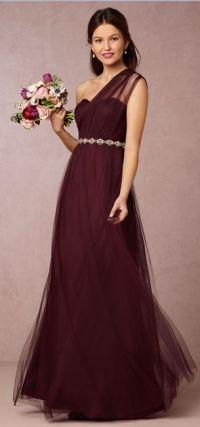 Jenny Yoo Annabelle Dress in Cabernet | Marsala Pantone ...