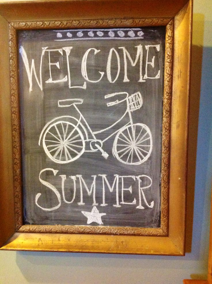 Best 20 Summer Chalkboard ideas on Pinterest  Summer chalkboard art Chalkboard art quotes and