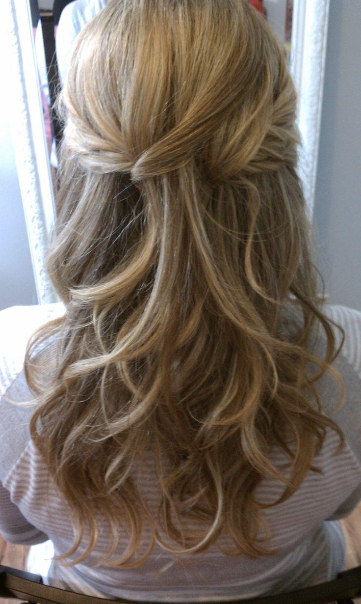Bridal Hair Half up Half Down  Hair  Makeup