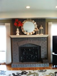 Painted fireplace - not white! It looks good. | What was ...