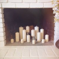 17 Best ideas about Candles In Fireplace on Pinterest ...
