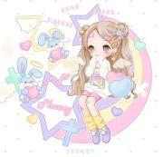 anime art pastel. . .fairy kei