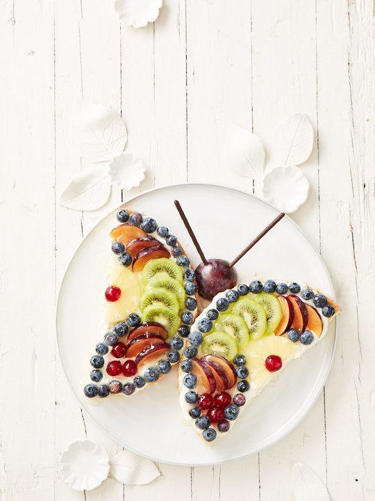 Schmetterlings Obsttorte  Rezepte Suchen