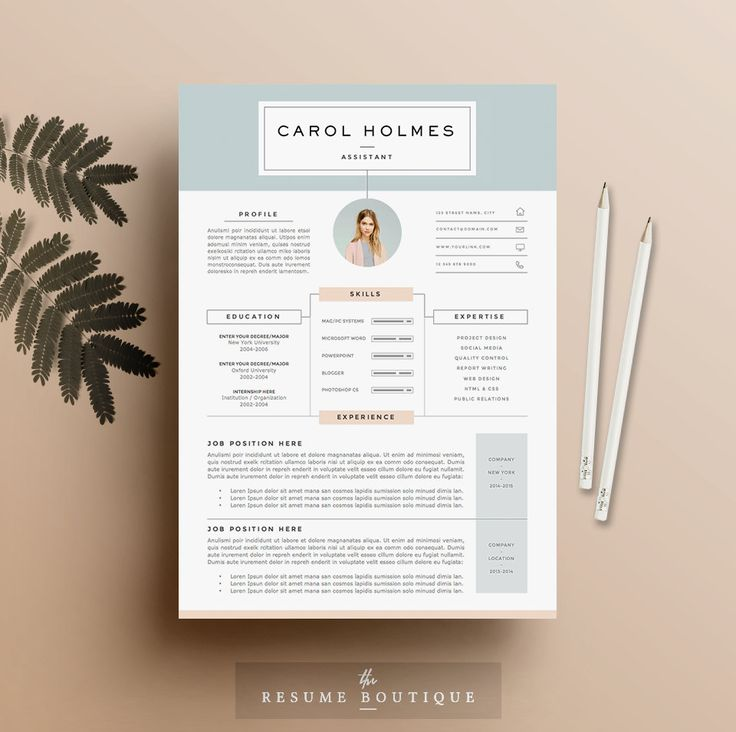 etsy resume template the emma
