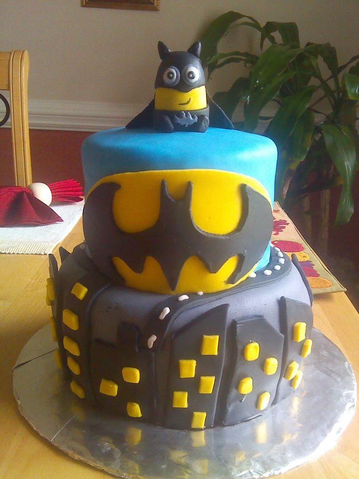 Batman Minion Cake Cakes Pinterest Minion Cakes Batman Minion And Cakes