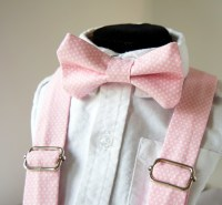 Pink Polka Dot Bow Tie & Suspenders Set -Pink Pin Dot ...