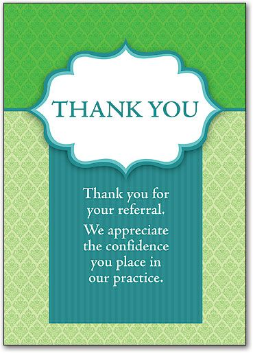 business referral thank you letters
