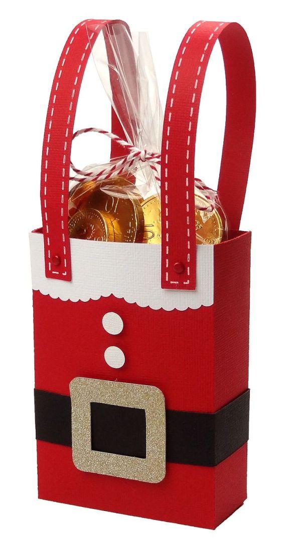 Santa Christmas gift bag by Pazzles Design Team Member