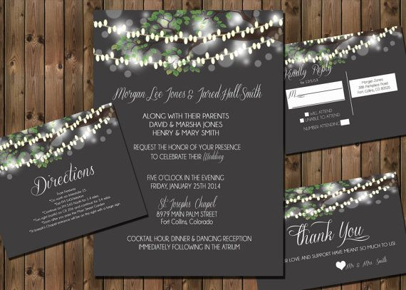 Rustic Wedding Invitation Packages