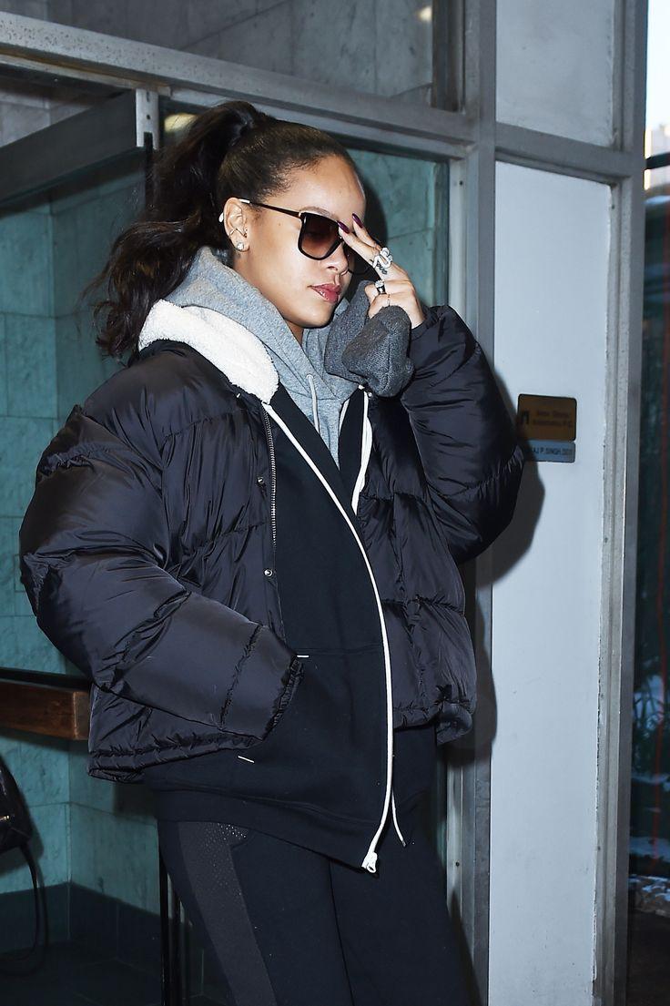 Rihanna  Down Jacket  Rihanna  Pinterest  Rihanna