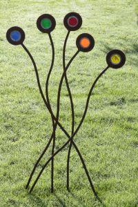Contemporary Metal Garden Stake - Kaleidoscope Garden Art ...