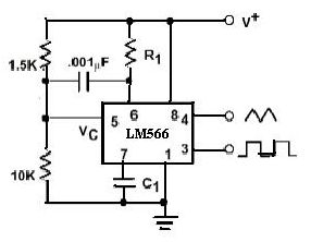 LM566 VCO (Voltage-Controlled Oscillator)