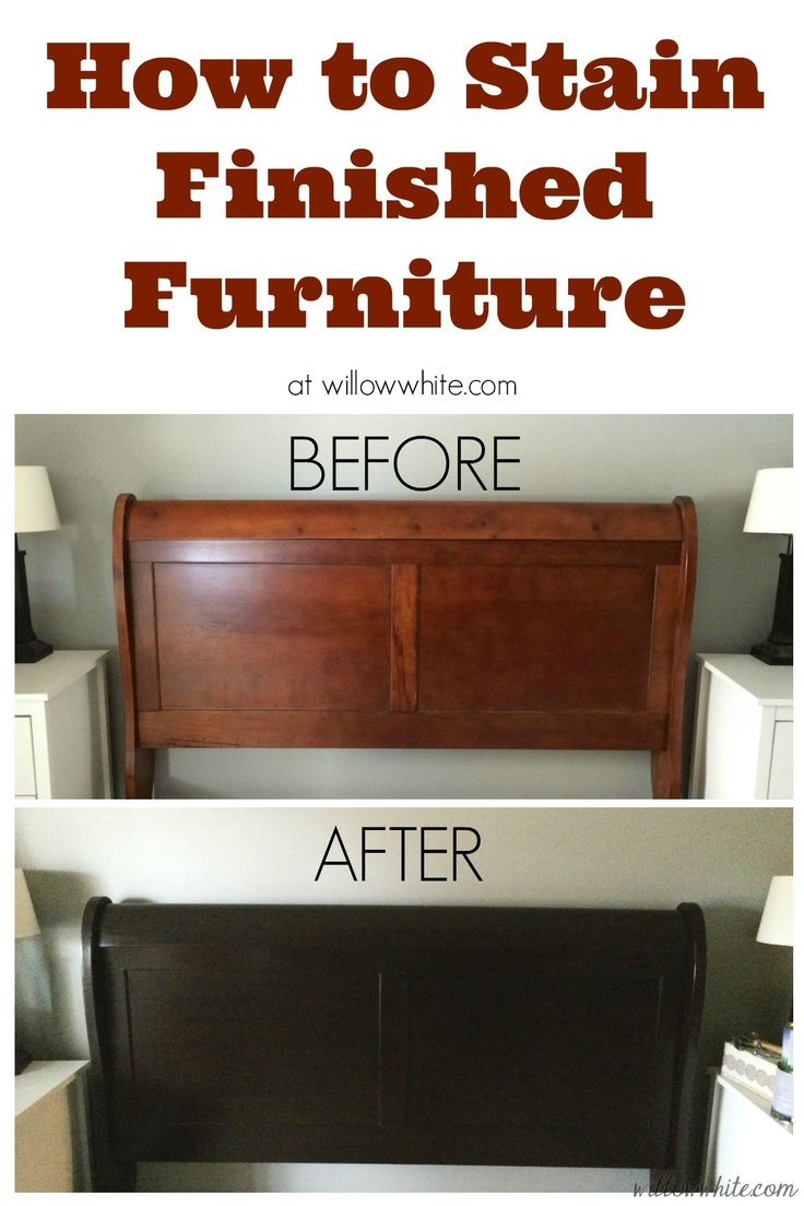 17 Best ideas about Staining Wood Furniture on Pinterest