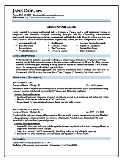 Resume Format Accountant Ms Word | Professional resumes ...