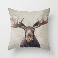 Moose pillow cover 16x16 pillow case by