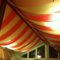 DIY circus tent ceiling for themed party Made with table ...