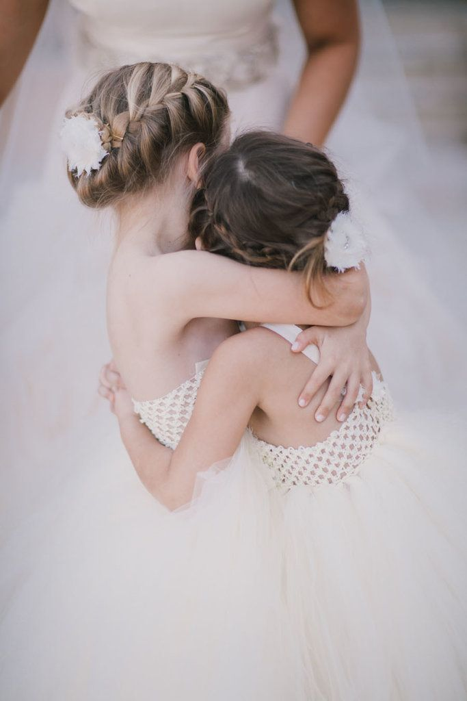 Its easier than you think to get a chic french braid, and its a stylish way to ensure your flower girls hair stays out of her