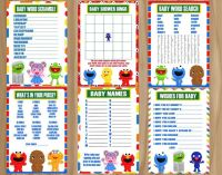 ALL 8 GAMES Sesame Street Baby Shower Elmo by ...