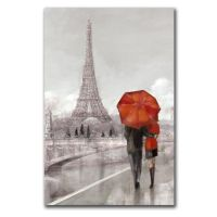 Take a stroll in the rain by the Eiffel Tower. This iconic ...