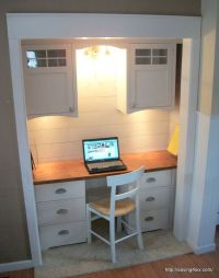 25+ best ideas about Closet Turned Office on Pinterest ...