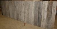 Reclaimed Grey Barnwood Wall Panels   Weathered Rustic ...