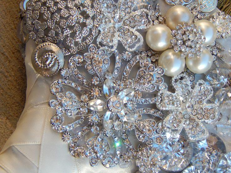 The Sarah O Jeweled Brooch Wedding Broom #jumpingthebroom