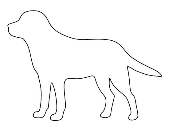 Labrador pattern. Use the printable outline for crafts