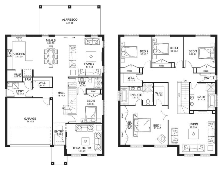 Best 10+ Double storey house plans ideas on Pinterest