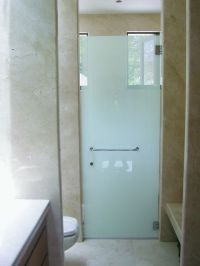 Frameless Frosted Shower Doors | Shower Doors, Mirrored ...