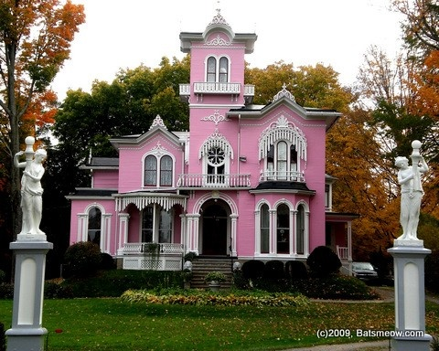 The pink house Wellsville NY  Victorian Dreaming  Pinterest  New york On the corner and House
