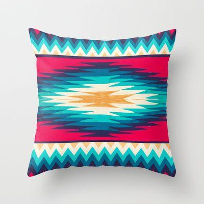 SURF GIRL CHEVRON Throw Pillow by Nika  – $20.00 #surf #pillow #home #decor #nav