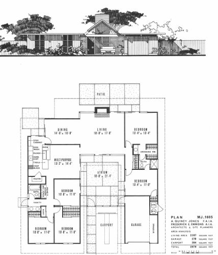 1000+ images about Eichler floor plans on Pinterest