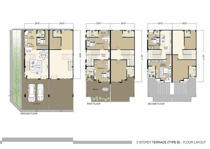 3 Storey House Floor Plan Design House Design Plans House Home